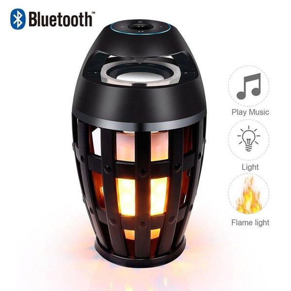 LED flame speaker Outdoor Portable column Torch atmosphere Wireless Bluetooth Speaker with LED flickers for iphone xiaomi HUAWEI+retail box