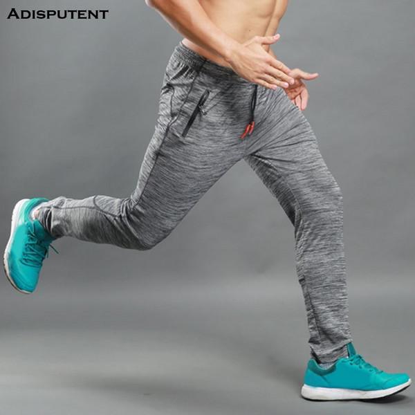 Adisputent Осень Мужские брюки КУЛЬТУРИЗМ Streetwear спортивные брюки спортивные штаны бегуны Running Спорт Мужчины Твердая карман на молнии