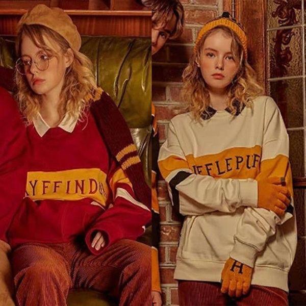 Harry Poter Hogwarts Hoodies Student Collar Gryffindor Women Unisex Junior Sweatshirt Tops Shirts Korean Harajuku Style -85 SH190922