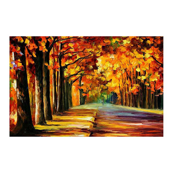 """24""""x20"""" Forest path hand-painted canvas oil painting living room sofa background wall decoration painting European painting"""