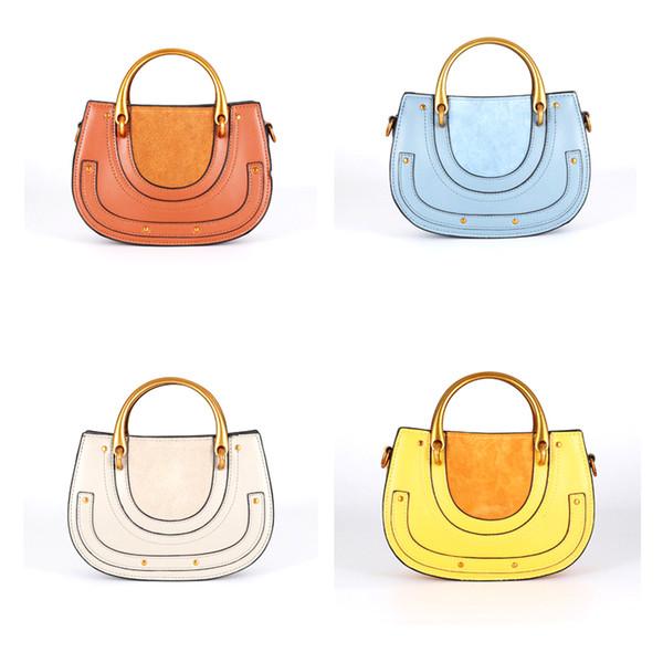 Mini Saddle Ring Bag High Quality Genuine Leather Women Retro Clutch Bag
