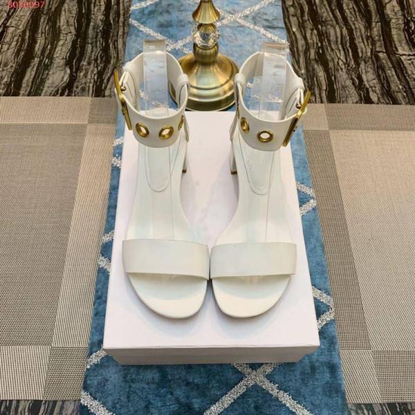 Продукт Tide для женщин Новые босоножки, Чистый цвет, женская обувь, толстые босоножки на каблуке, высота каблука 5.5 см
