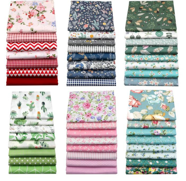 best selling 20cmx25cm and 25cmx25cm Cotton Fabric Printed Cloth Sewing Quilting Fabrics for Patchwork Needlework DIY Handmade Material