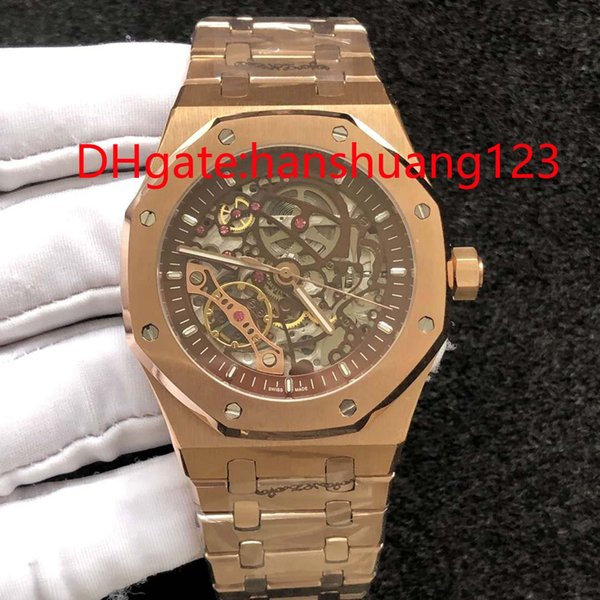 In 2019, High Quality, Rose Gold, Stainless Steel, Automatic Men'S