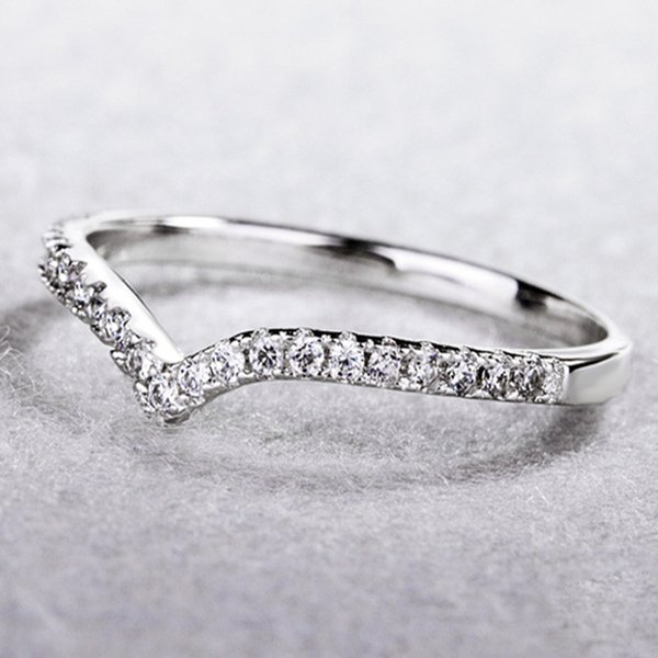 Venda quente Moda Feminina Limpar Anéis De Noivado De Casamento Jóias De Presente