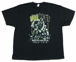 Volbeat Skulls Tour 2016 North America BlaBrand T Shirt New Official Band Merch