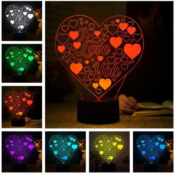 Grosshandel Liebe Romantische 3d Herz Ich Liebe Dich Eid Led