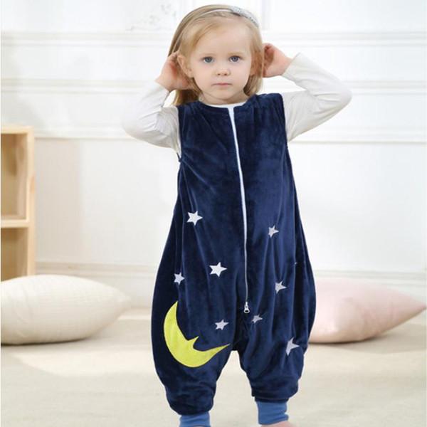 Saco de dormir sem mangas do bebê crianças saco de dormir minúsculo algodão azul saco de dormir recém-nascido envelope 1-3 anos atacado frete grátis