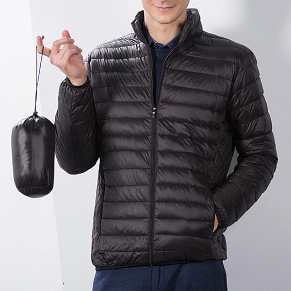 Men's Fashion Winter Style Pure Colour Folding Mattress Cotton Cloak Men's Overcoat SH190930