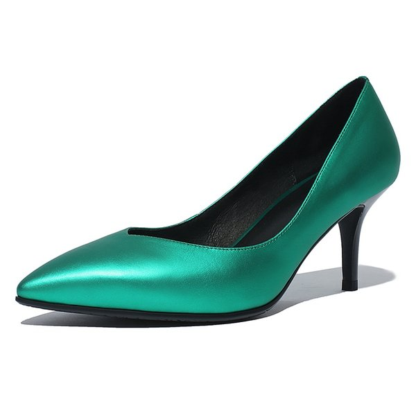 wholesale Women 7CM High Heel Shoes Basic Model Pumps Lady Sexy Pointed Toe Wedding Shoes Pumps Handmade Shoes SIZE 34-42