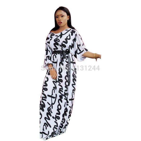 Vente chaude 2019 nouvelle conception de la mode des vêtements africains traditionnels d'impression Dashiki Nice Neck robes africaines pour les femmes
