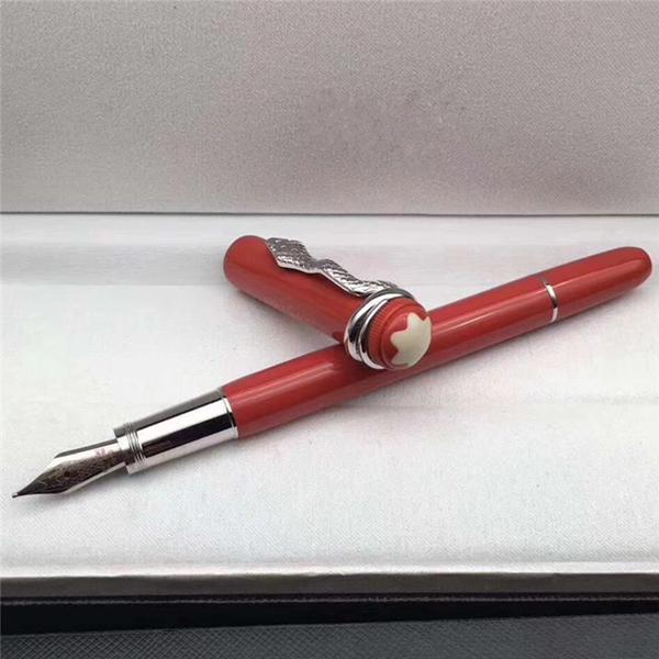 نافورة القلم كليب الفضة
