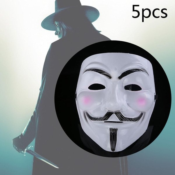 Lot V For Vendetta Mask Guy Fawkes Anonymous Party Masks Dress Cosplay