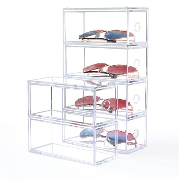 Multi-layer Lipstick Box Acrylic Lipstick Holder Case Cosmetics Storage Makeup Glasses Organizer Nail Polish Display Stand