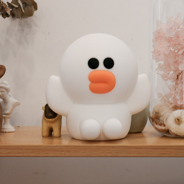 Cute Cartoon Night Light Silicone Usb Charging Bedside Lamp Sally Chicken Brown Bear Cony Rabbit Desk Lamp Children's Toys Gift