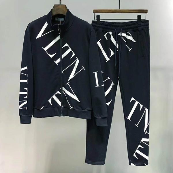 best selling 2019 sportswear jacket suit fashion running sportswear Medusa men's sports suit letter printing clothing sportswear sports jacket M-3XL code