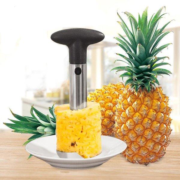 Paslanmaz Çelik Ananas Soyucu Meyve Tart Dilimleme Soyma Kök Sökücü Kesici Mutfak Aracı Ananas bıçak opp torba paketi MMA1582