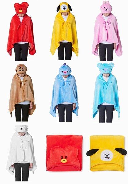 Grosshandel Cartoon Bt21 Plusch Spielzeug Gefullte Kapuze Decke