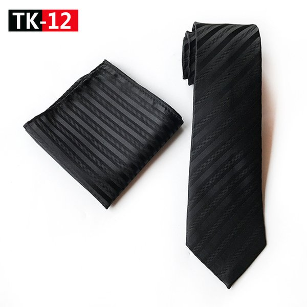 White and Navy Blue Striped Tie Set with A Satin Finish Coloured Stripe Tie Suitable for Any Function, Best Gift for Boyfriend
