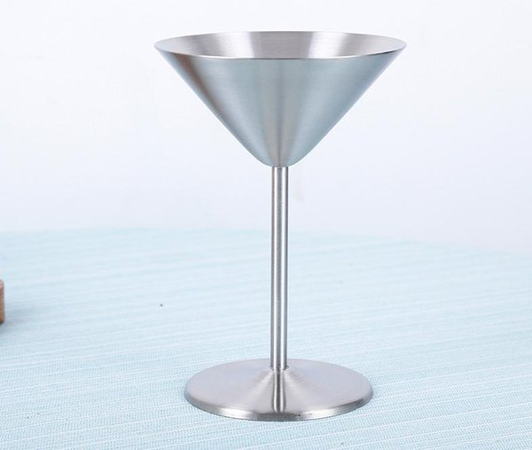 Cocktail Glass Cup Stainless Steel Wine Cup Hanap Wine Glass Martini Champagne Cup Goblet Bar Tools Mugs for Party Fashion Design SN1914