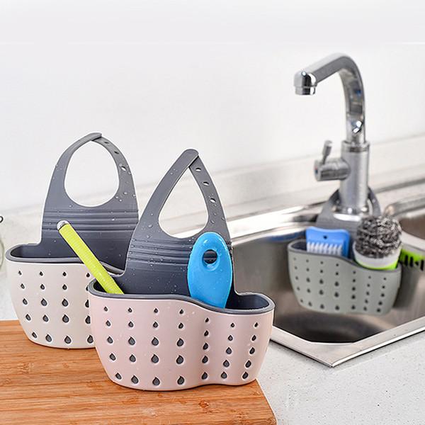 2019 Kitchen Sink Shelf Soap Sponge Drain Rack Bathroom Faucet Caddy Sink  Sponge Holder Storage Basket Kitchen From Ys_shop1, $7.62 | DHgate.Com