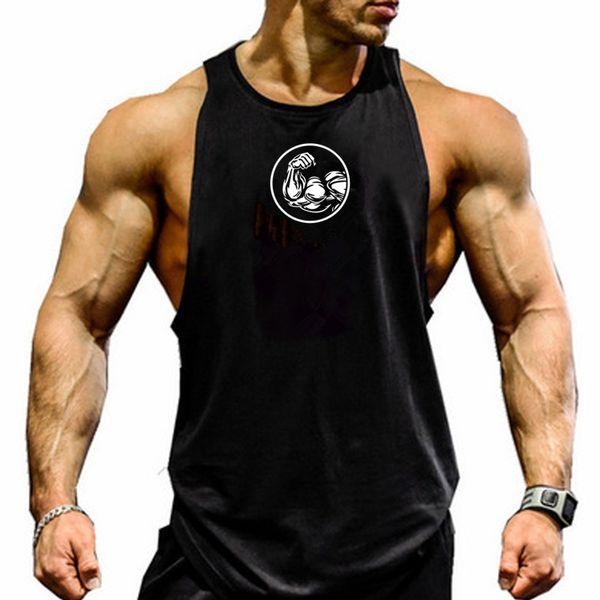2019 new gym sportswear vest men's fitness vest Canotta bodybuilding sleeveless shirt muscle