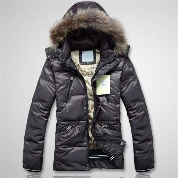 New Mens Designer Jacket Feather Style Down Coat Hooded Fur Thich Warm Windbreaker Fashion Jacket Zipper Luxury Coat Pockets Clothing
