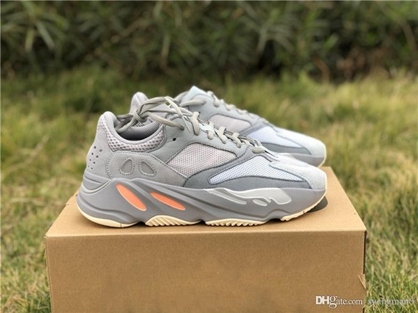 2019 Newest Release Kanye West 700 Inertia Blueish Grayish Man Woman Running Shoes Outdoor Sneakers Authentic Quality With Original Box
