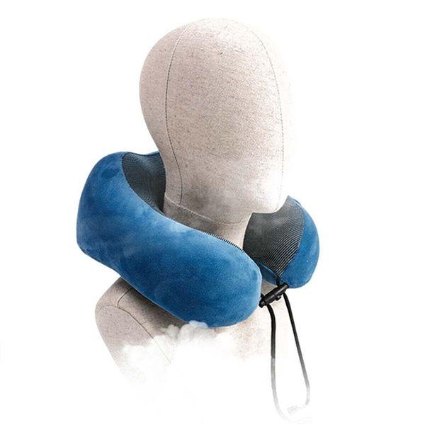 Em forma de U Travesseiros Pescoço De Espuma De Memória Macio Lento Rebote Travesseiro de Viagem Espacial Sólida Pescoço Cervical Têxteis Para Casa Fronha Confortável Fronha