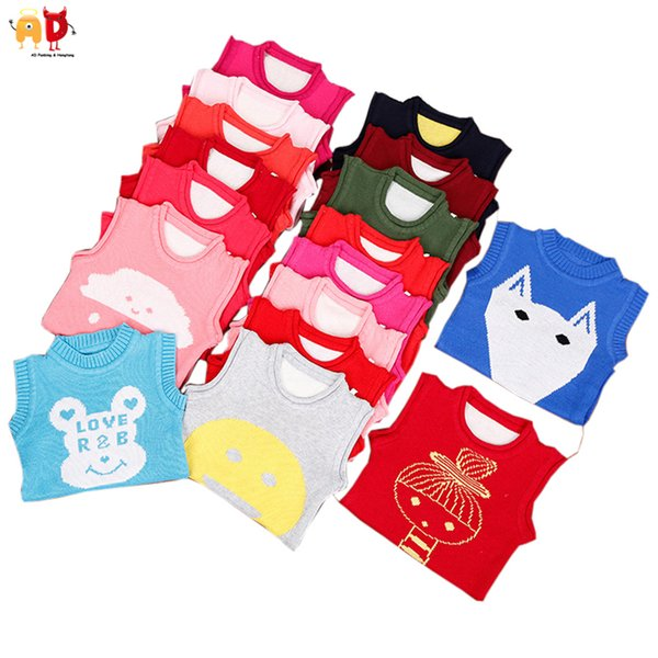 good quality Colorful Cute Pattern Boys Winter Sweaters Vests Girls Spring Autumn Top Outwear Children's Clothing Kids Clothes