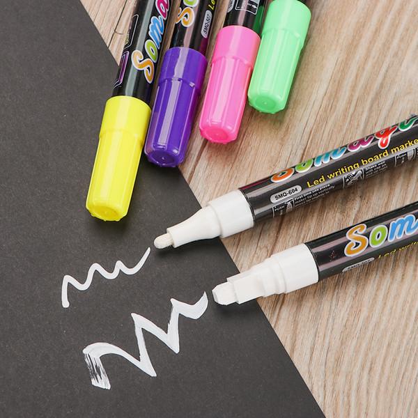 8Pcs Erasable Liquid Chalk Marker Pen Lamp Board Pen Flash Color Painting Lamp Board Fluorescent Special Sign