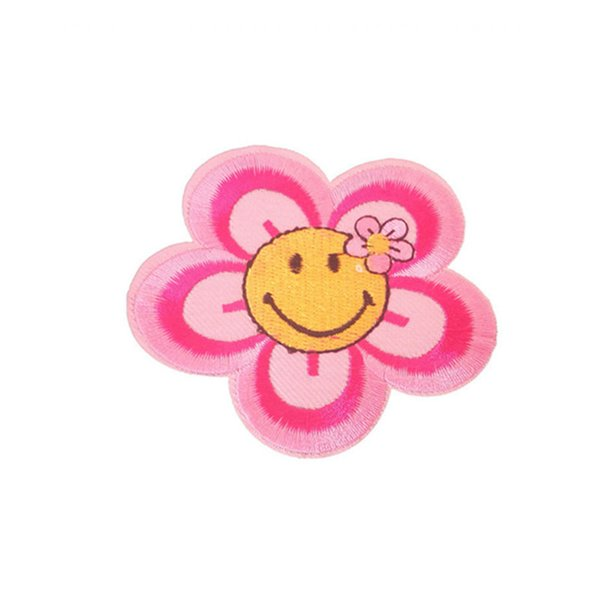 Embroidery patch Smiling face shape Iron patch cloth Back gum appliques skirt jeans jacket racksack sewing decorative accessories DL_CPIS005