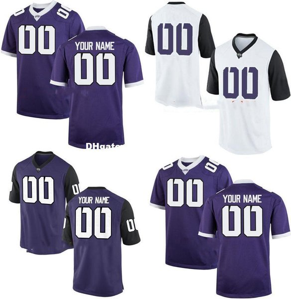 check out 26846 afa58 2019 Cheap Custom TCU Horned Frogs College Jersey Mens Women Youth Kid  Personalized Any Number Of Any Name Stitched Purple White Football Jerseys  From ...