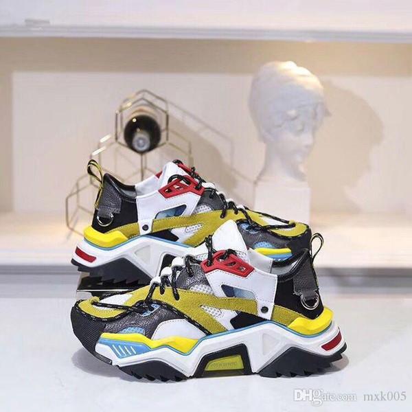 2019 novos couro designer quente sapatos casuais homens e mulheres de designer sapatos casuais 35-45 BNV04