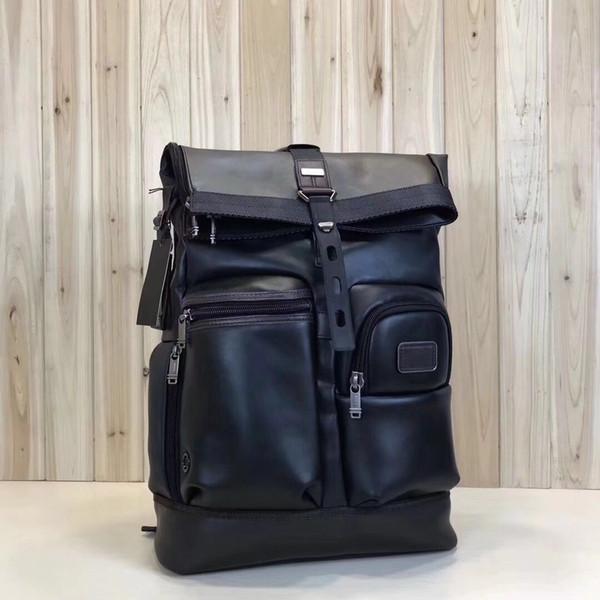 Ballistic nylon travel men's business casual portable shoulder computer 92388 full leather backpack tumi