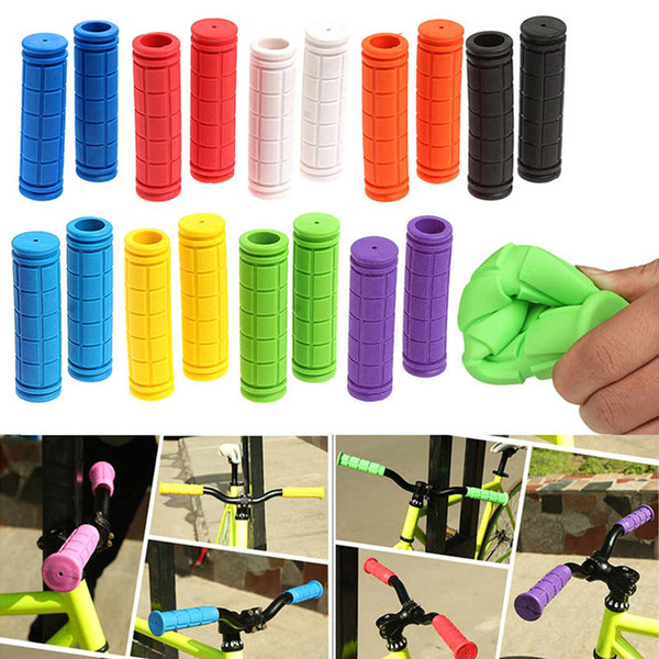 1 Pair Bicycle Handlebar Grips Soft Rubber Cycling X M Mountain Bike Scooter Fixed Gear Bar End Parts Accessory Tool