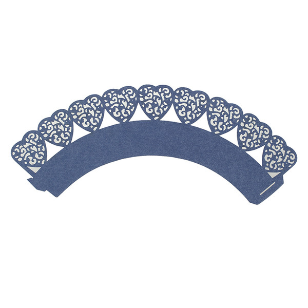 50 pcs Wedding Cupcake Wrappers(Navy blue)