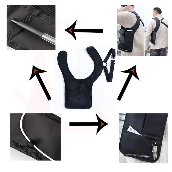 Armpit Bag with Adjustable Strap Anti-theft Portable Chest Bag Men Underarm Shoulder Hidden Multi Pockets Messenger Sling