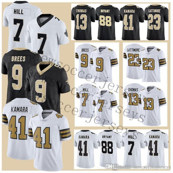 the best attitude 75b42 b2ef5 2019 9 Drew Brees New Orleans Men Saints Jerseys 23 Marshon Lattimore 7  Taysom Hill Jersey Color Rush Limited 28 Adrian Peterson From ...