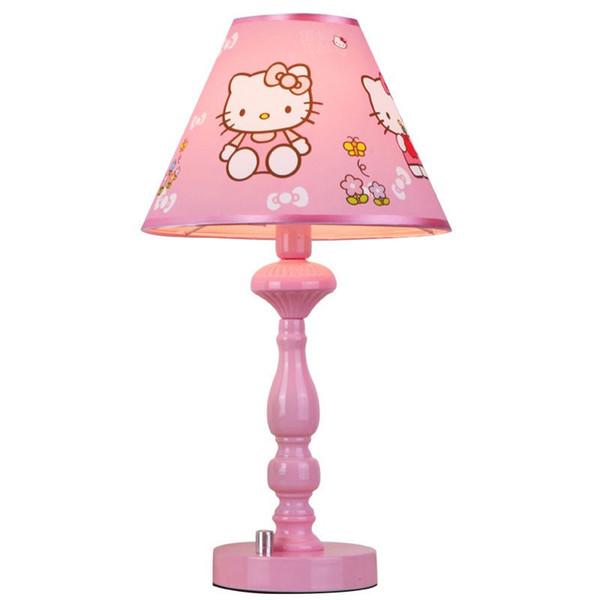 OOVOV Romantic Princess Room Pink Fabric Desk Light Cartoon Cute Girl's Room Desk Lamp Kid's Room Table Lamp