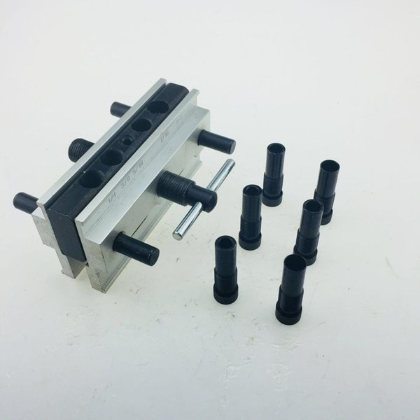 Punching Round Pin Drill Hole Locator Round Pin Hole Vertical Drilling Fixture Sets Wood Working Tool