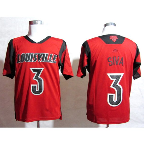 Mens Louisville Cardinals Peyton Siva Stitched Name&Number American College Football Jersey Size S-3XL