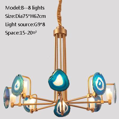 B 8 lights