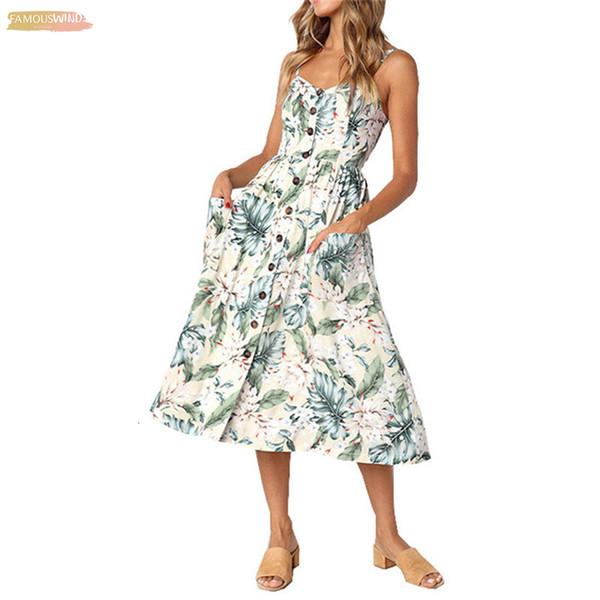 Floral Longo Boho Bohemian Praia Verão Vestido Mulheres Ankle-Length 2019 Vestido de Verão Sexy V-Neck Strap mangas Vestido Maxi Vintage Para Mulheres