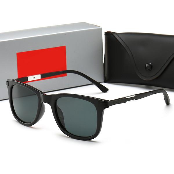 Модные классические роскошные мужские солнцезащитные очки женские солнцезащитные очки черная рамка винтажный стиль на открытом воздухе дизайнерские солнцезащитные очки классическая модель 31 с коробкой