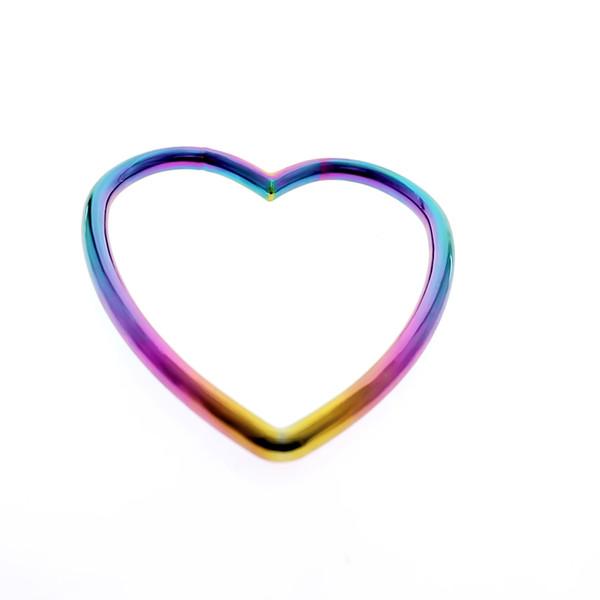 MKS04 anello singolo arcobaleno shibari