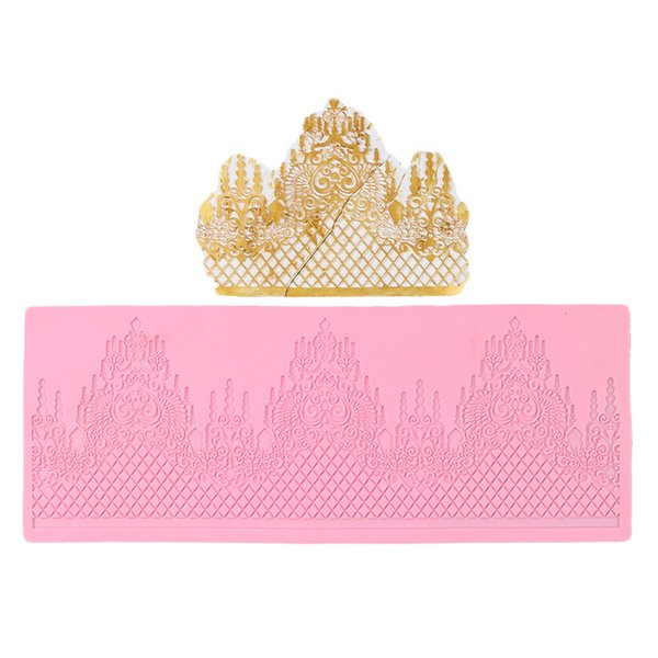 1PC 3D Lace Jewellery Wedding Cake Silicone Beautiful Lace Fondant Mold Mousse Sugar Craft Icing Mat Pad Pastry Baking Pad Tool
