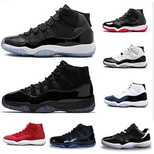 Erkekler 11 11 s Basketbol Ayakkabıları Kap ve Kıyafeti Gama Mavi Yanardöner Gym Kırmızı UNC Concord Bred moda lüks erkek kadın tasarımcı sandalet ayakkabı
