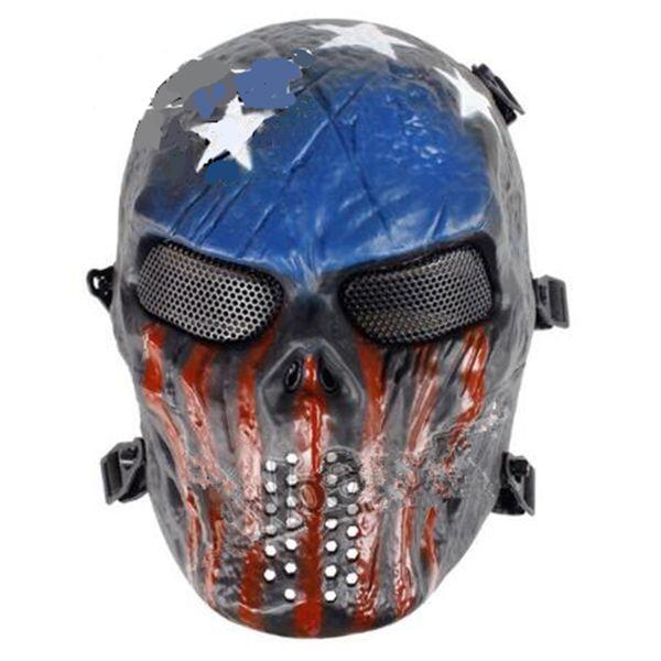 Chieftain M06 puntelli insanguinati di ferro maschera da equitazione maschera protettiva completa