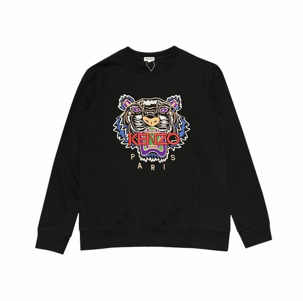 Hot saleNew Hoodies Mens Camisolas Cabeça de Tigre Bordado Casal de Inverno Hoodie com Marcas Letras Streetwear Basculador Tops Roupas